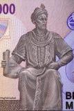 Ulugh pide un retrato del dinero de Uzbekist?n fotos de archivo