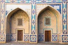 Ulughbek Madrassah Stary centrum miasta Bukhara, Uzbekistan, Obrazy Stock