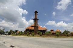 Ulul Albab moské (Masjid Kayu Seberang Jertih) i Terengganu Royaltyfria Bilder