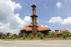 Ulul Albab moské (Masjid Kayu Seberang Jertih) i Terengganu Arkivbild