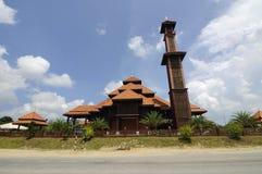Ulul Albab moské (Masjid Kayu Seberang Jertih) i Terengganu royaltyfri foto