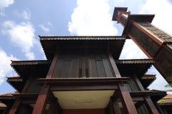 Ulul Albab moské (Masjid Kayu Seberang Jertih) i Terengganu Arkivfoton