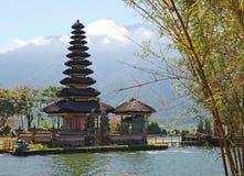 Ulun Danu寺庙在Bedugul -巴厘岛011 库存照片