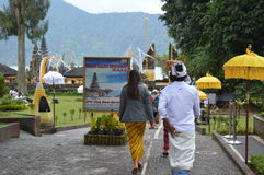 Ulun Danu Beratan świątynia Bali Obrazy Royalty Free
