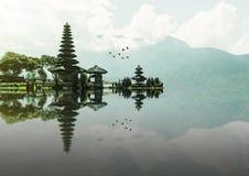 Ulun Danu Beratan tempel, Bali Arkivfoton