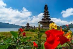 Ulun Danu Bratan寺庙,巴厘岛 免版税库存照片