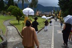 Ulun Danu Tempel Bali Stockbilder