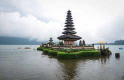 The Ulun Danu temple in Bali, Indonesia. Ulun Danu Temple is located at the edge of lake Bratan, Bedugul area, Candikuning village, Baturiti district, Tabanan Stock Photography