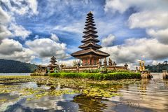 Ulun Danu temple Bali, Indonesien stock photo
