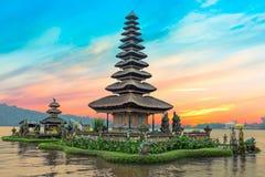 Ulun Danu temple Beratan Lake in Bali Indonesia Stock Photo