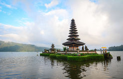 Ulun Danu temple on the lake in Bali, Indonesia.  stock image