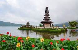 Ulun Danu temple on the lake in Bali, Indonesia Stock Images