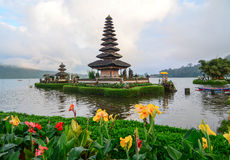 Ulun Danu temple on the lake in Bali, Indonesia Royalty Free Stock Photos