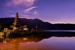Ulundanu świątynia, Bali Indonezja Obraz Royalty Free
