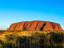 Ulurú (Ayers Rock). At sunrise in Northern Territory, Australia stock photo