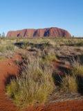 Uluru在澳大利亚红色中心 库存照片