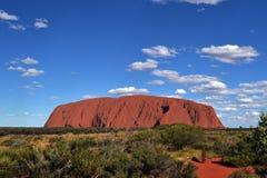 离Uluru较近 库存图片