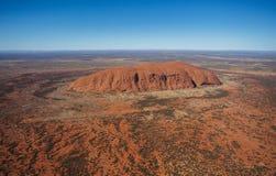 Uluru από τον αέρα Στοκ εικόνες με δικαίωμα ελεύθερης χρήσης
