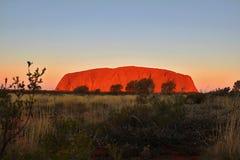uluru Австралии Стоковое Изображение