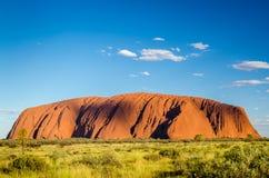 Uluru в течение дня Стоковые Изображения RF