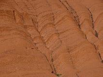 Uluru, северные территории, Австралия 02/22/18 Закройте вверх гребней и crevices стоковая фотография