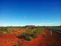 Uluru/艾瑞斯岩石 图库摄影