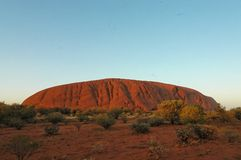Uluru. Ayers rock australia large sandstone rock formation in the southern part of the Northern Territory, central Australia Royalty Free Stock Images