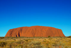 Uluru. (Ayers Rock), a world heritage landscape in outback Australia stock image