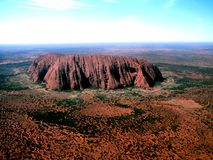 Uluru From Above Royalty Free Stock Images