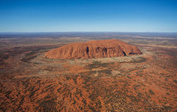 Uluru from the air Royalty Free Stock Images