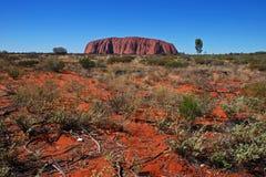 Uluru, Ayers Felsen Lizenzfreies Stockfoto