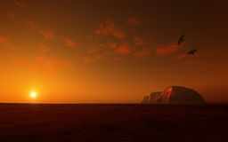 Uluru - Ayers Rots Australië Stock Foto