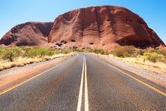 Uluru Ayers skała, terytorium północne, Australia fotografia stock