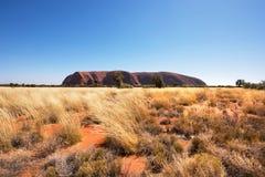 Uluru Ayers skała, terytorium północne, Australia fotografia royalty free