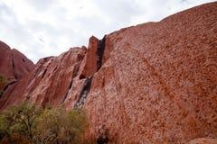 Uluru - Ayers vaggar Arkivfoto