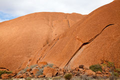 Uluru - Ayers vaggar Arkivbilder