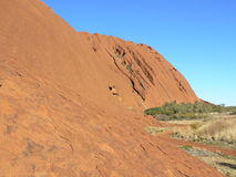 Uluru close-up showing rock formation Royalty Free Stock Photos