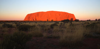 uluru de roche d'ayers Photos stock