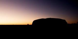 Uluru en la salida del sol imagen de archivo libre de regalías