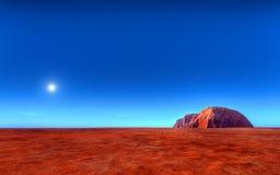 uluru för Australien ayersroch stock illustrationer