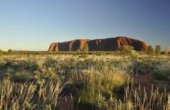 Uluru mountsin at sunrise Royalty Free Stock Images