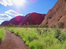 Uluru, Northern Territory, Australia 02/22/18. View from the base walk trail royalty free stock image