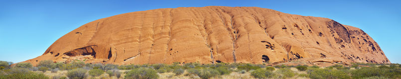 Uluru Panorama, Outback Australia Royalty Free Stock Photo