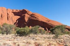 Uluru Profile and Desert Plains Stock Images