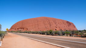 Uluru Red Centre Australia. The world's largest monolith and an Aboriginal sacred site is Australia's most famous natural landmark Stock Image