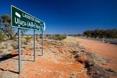 Uluru Road Sign Royalty Free Stock Photo
