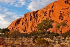 Uluru (roccia di Ayers) di mattina Immagini Stock Libere da Diritti