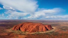 Uluru skyline with clouds. Summer timelapse stock footage