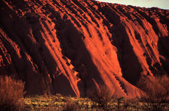 Uluru slopes Royalty Free Stock Photo