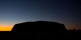Uluru at Sunrise Stock Image